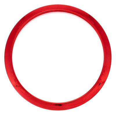 "Bass Drum O's 6"" Red Chrome round HCR6"
