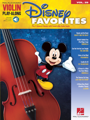 Hal Leonard Violin Play-Along: Disney